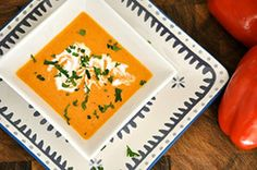 Roasted Red Capsicums Soup This quick and easy soup is wholesome and nutritious. Red capsicums are filled with vitamin C, vitamin A and caro...