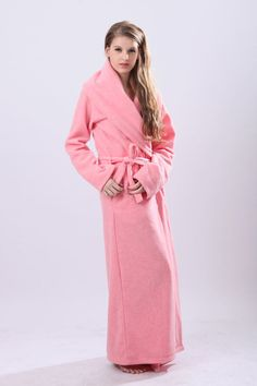 what a dreamgirl, looking sweet in such a long robe.