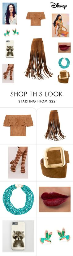 """""""Modern Pocahontas"""" by caple-j ❤ liked on Polyvore featuring Hermès, Michael Kors, Kenneth Jay Lane, Disney, Kate Spade and modern"""