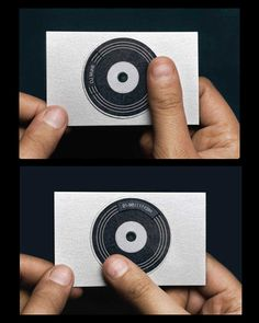 Brilliant business card idea for someone in the music/dj industry