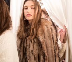 Backstage at the Ralph Lauren Fall '15 Show