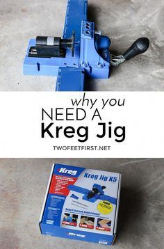 Learn Woodworking How a Kreg Jig works and why you need one! - Over the years of sharing my build projects I have had people ask what is a Kreg Jig and how does it work. So here is how a Kreg Jig works. Woodworking Quotes, Woodworking For Kids, Woodworking Guide, Woodworking Workbench, Woodworking Techniques, Woodworking Projects Plans, Woodworking Furniture, Woodworking Jigsaw, Woodworking Patterns