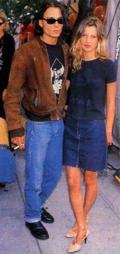 Knee length denim - 90's trends back a la Kate
