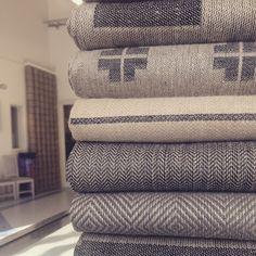 Greyscale. 100% linen. Made in Sweden. Växbo Lin. Design Ingela Berntsson