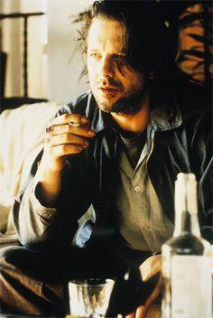 "Mickey Rourke as Charles Bukowski in ""Barfly"""