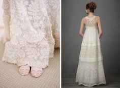 embroidered and crocheted wedding dresses vera wang dress photographed by elizabeth messina  and dress by BHLDN