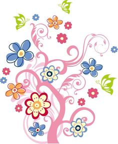 Free+Vector+Clip+Art | Tree with Flowers Vector Graphic | Free Vector Graphics | All Free Web ...