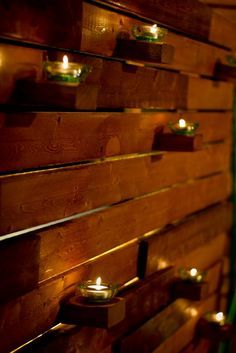 wood pallet and candles wedding ideas - Google Search