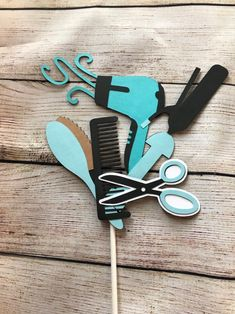 Excited to share this item from my shop: Hair Stylist Cake Topper, Cosmetologist Centerpieces First Birthday Centerpieces, Birthday Party Themes, Cake Centerpieces, Wedding Balloons, Birthday Balloons, Hair Stylist Cake, Hairdresser Cake, Cosmetology Graduation, Biscuit