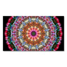 Nature Love kaleidoscope Business Cards. This great business card design is available for customization. All text style, colors, sizes can be modified to fit your needs. Just click the image to learn more!