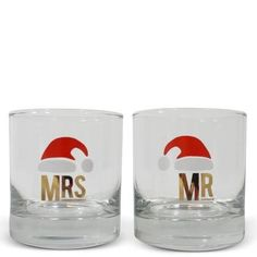 Adorable Santa glasses, perfect for a Newlywed couple's first Christmas!