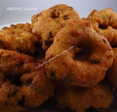 A doughnut shaped south Indian savory snack that is had by itself as a snack or served with idli, pongal etc to make a complete meal