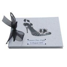 Monochrome Hen Night or Special Birthday Book by dottiedesignsxx
