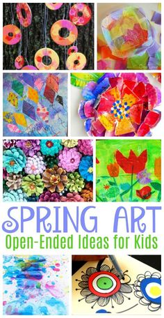 Stunning Spring art projects for kids that are colourful and open-ended enough to inspire creativity and expression in any child!