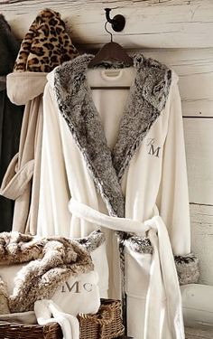 monogram fur robes on sale for the holidays! http://rstyle.me/n/s2wn9r9te