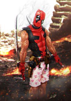 #Deadpool #Fan #Art. (Deadpool) By: AndrieriStefano. (THE * 5 * STÅR * ÅWARD * OF: * AW YEAH, IT'S MAJOR ÅWESOMENESS!!!™) ÅÅÅ+ 5. 2