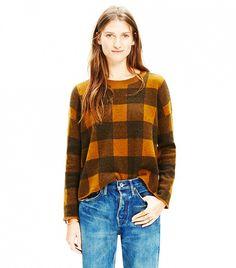 Madewell Inkcheck Plaid Sweater