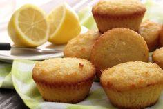 Paleo Lemon Muffins - made with almond flour, shredded coconut, coconut flour, baking soda, baking powder, salt, raw honey, lemon juice and zest, coconut milk, eggs, coconut oil, and vanilla paleo dessert lemon