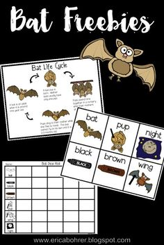 In a week or so we will be starting our bat unit in first grade. I thought you might be doing the same with your first graders. I have a few bat themed units on TpT such as my Batty for Bats file a