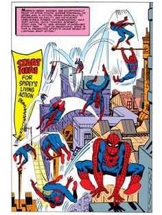 Spidey's Living Action Demonstration Pin Up Art by Steve Ditko