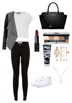"""Untitled #45"" by amanrose on Polyvore featuring NIKE, MICHAEL Michael Kors, NARS Cosmetics, Bobbi Brown Cosmetics, Anne Klein and White House Black Market"