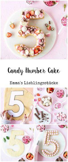 Candy Number Cake Rezept Lettercake Cream Trat Zahlentorte Geburtstagstorte Kuch… - How To Make Crazy PARTY 75 Birthday Cake, Bithday Cake, Birthday Candy, Big Cakes, Food Cakes, Cake Trends 2018, Alphabet Cake, Cake Lettering, Biscuit Cake
