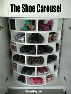 Shoe Carousel http://media-cache6.pinterest.com/upload/120823202472720425_7bn3UOJl_f.jpg stephbone cool ideas