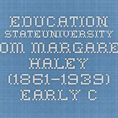 education.stateuniversity.com Margaret Haley (1861–1939) - Early Career, The Chicago Teachers Federation, American Federation of Teachers, Politics, Haley's Contribution  Read more: Margaret Haley (1861–1939) - Early Career, The Chicago Teachers Federation, American Federation of Teachers, Politics, Haley's Contribution - School, Women, Education, and Labor - StateUniversity.com http://education.stateuniversity.com/pages/2025/Haley-Margaret-1861-1939.html#ixzz3lrXVFPsm