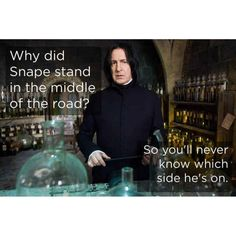 Hilarious Harry Potter memes about the infamous Severus Snape. Severus Snape, Severus Rogue, Snape Harry, Draco Malfoy, Albus Dumbledore, Harry Potter Jokes, Harry Potter Fandom, Harry Potter Things, Harry Potter Theories