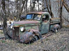 Today...forgotten.....But there was a day.... when the paint was shiny and this truck was very special...it was someones pride and joy....it was the center of attention....But today....forgotten....such is the cycle of life.