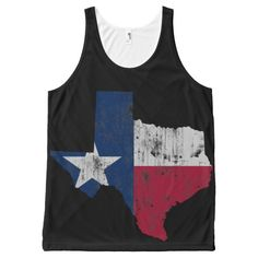 Vintage Texas Flag State All-Over Print Tank Top ---   http://tipsalud.com   -----