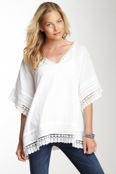 Embroidered V-Neck Poncho by Dolce Cabo on @HauteLook