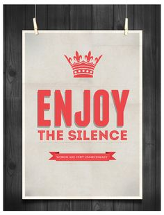 Depeche Mode -  Enjoy the silence poster. $16.00, via Etsy.
