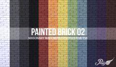 Simsational Designs: Painted Brick Wall 02