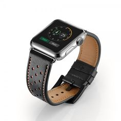 Black Leather Apple Watch Band - Made of Leather - Apple Watch Bands/Straps