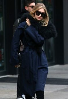 Gigi Hadid Square Sunglasses - Gigi Hadid headed out in New York City wearing a pair of oversized square shades by Karen Walker.