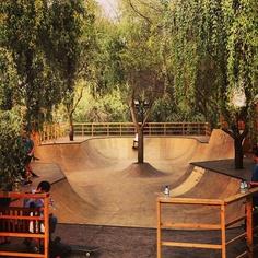 (Skate park for roleplay) 'Hey, Andrea! Ready to skate? Landscape Architecture, Landscape Design, Garden Design, Backyard Skatepark, Skateboard Ramps, Bmx Ramps, Skateboard Room, Skate Ramp, Skate And Destroy