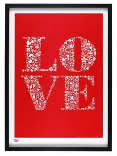 Bold & Noble Love Screen Print from SE10 Gallery