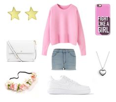 """""""Untitled #27"""" by ada-branescu on Polyvore featuring Cheap Monday, Casetify, NIKE, Tory Burch, Pandora, women's clothing, women, female, woman and misses"""