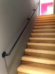 Home Depot Interior Stair Railing . Home Depot Interior Stair Railing . Half Wall Timber Handrail Stainless Steel Rails and Black