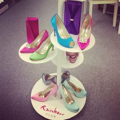Beautiful dyed shoes by Rainbow Club - laceandfavour.com