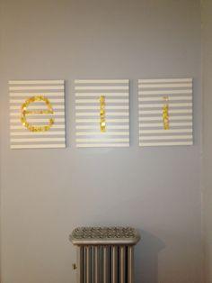 grey yellow toddler room