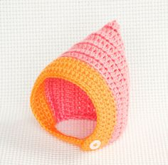 Crochet Pixie Hat with Chinstrap  BOY or GIRL  by beeziebee, $16.00 I want one for Millie!! LOL