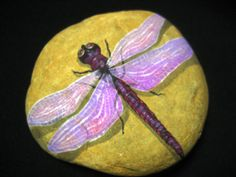 Hand painted, any type of Dragon Fly on Stone / Rock Art / garden decor / Yard Art / Paper weights / great gifts on Etsy