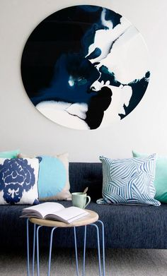Resin round print by bec tarrant