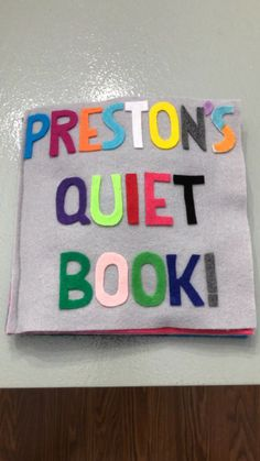 Felt Sensory Quiet Busy Book, Build your own! For Baby or Toddler - Kinderspiele Diy Busy Books, Diy Quiet Books, Baby Quiet Book, Felt Quiet Books, Baby Books, Quiet Book Templates, Quiet Book Patterns, Baby Crafts, Crafts For Kids