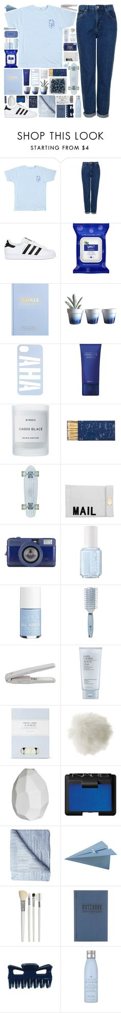 """""""ON MY OWN"""" by doubting ❤ liked on Polyvore featuring Topshop, adidas Originals, kikki.K, Dot & Bo, Byredo, Jayson Home, Akira, Essie, Jack Wills and Goody"""