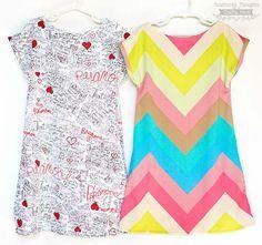 Patron gratuit : une robe trapèze toute simple pour jeune fille « Blog de Petit Citron