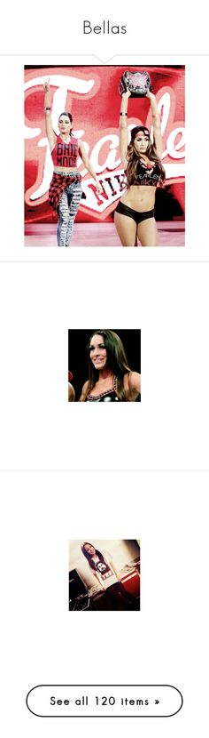 """Bellas"" by angellynn02 ❤ liked on Polyvore featuring the bella twins, wwe, wwe diva, home, home decor, superstars, nikki bella, brie bella, red home decor and red home accessories"