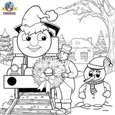 Thomas And Friends Coloring Pages Train Printable Christmas Work Sheets Santa